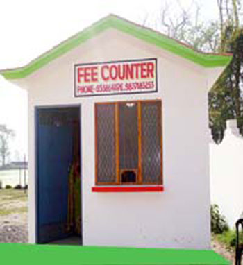 Fees counter of G S Convent School Sitarganj best school in sitarganj uttarakhand India