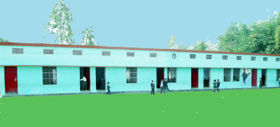 Green World convent School at sitarganj-Left View Of Main building
